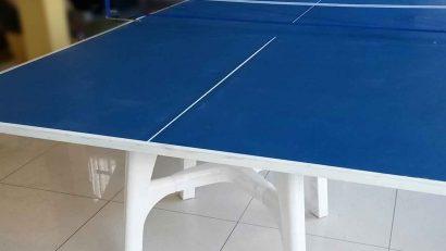 mesa de ping pong hecha a mano en casa