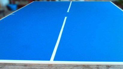 tablero casero para mesa de ping pong