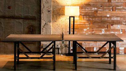 mesa de ping pong hecha a mano