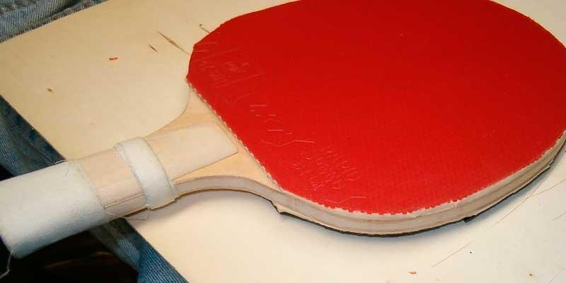 pala ping pong fabricada en casa