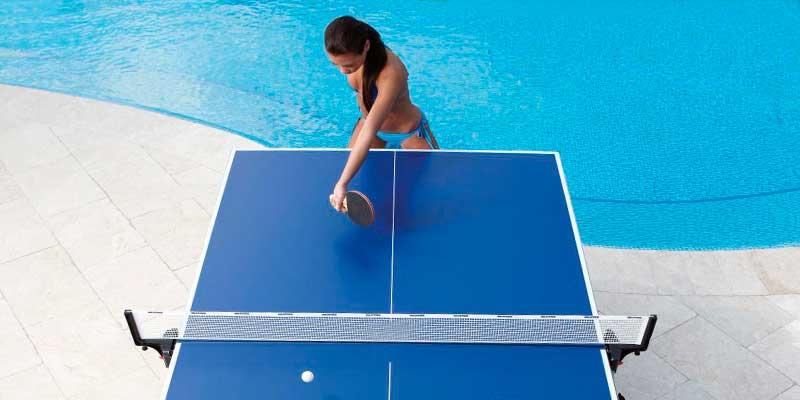 tablero mesa ping pong para la piscina