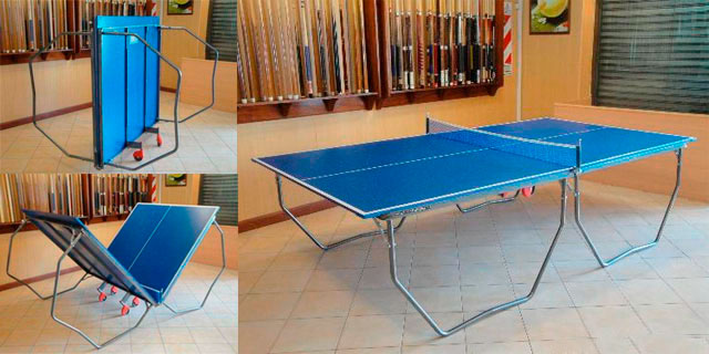 mesa ping pong sistema plegado
