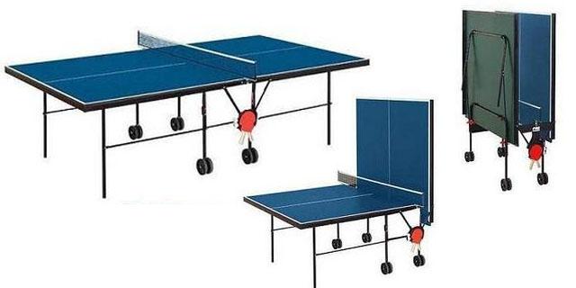 mesa ping pong con plegado tradicional