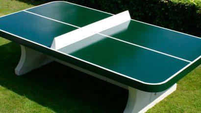 mesa de ping pong verde